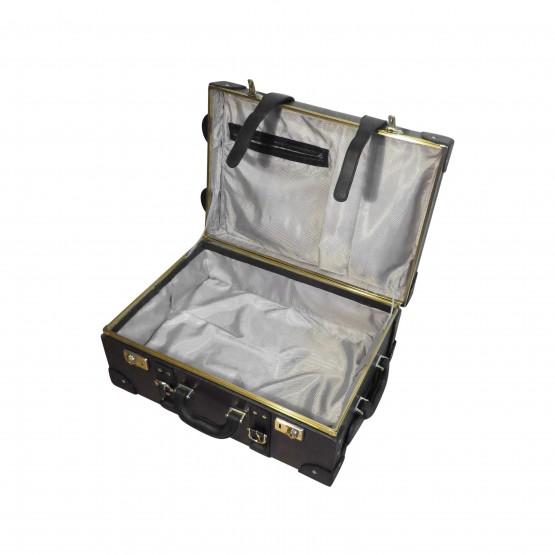 Кожаный чемодан (коричневый)