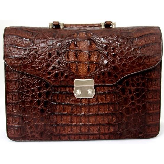 Портфель из кожи крокодила (пример)